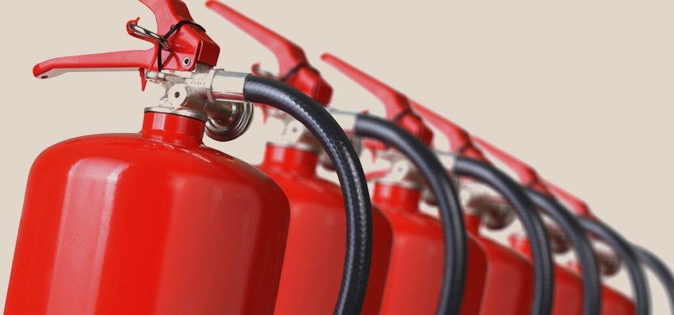 Fire extinguisher installation