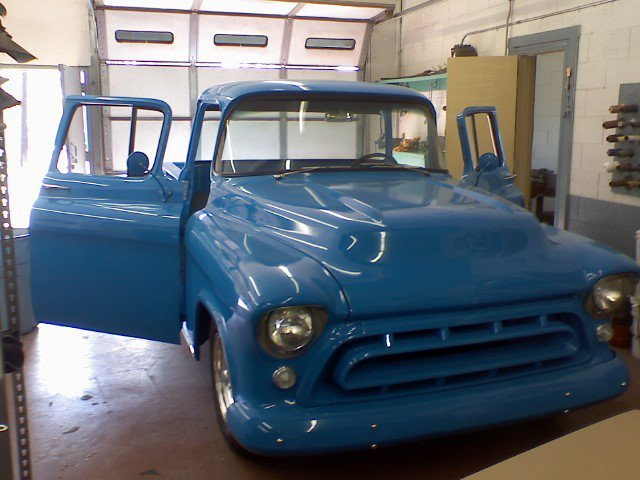 Classic chevrolet truck after interior upholstery