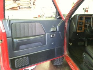 Before picture of classic buick interior AFTER upholstery