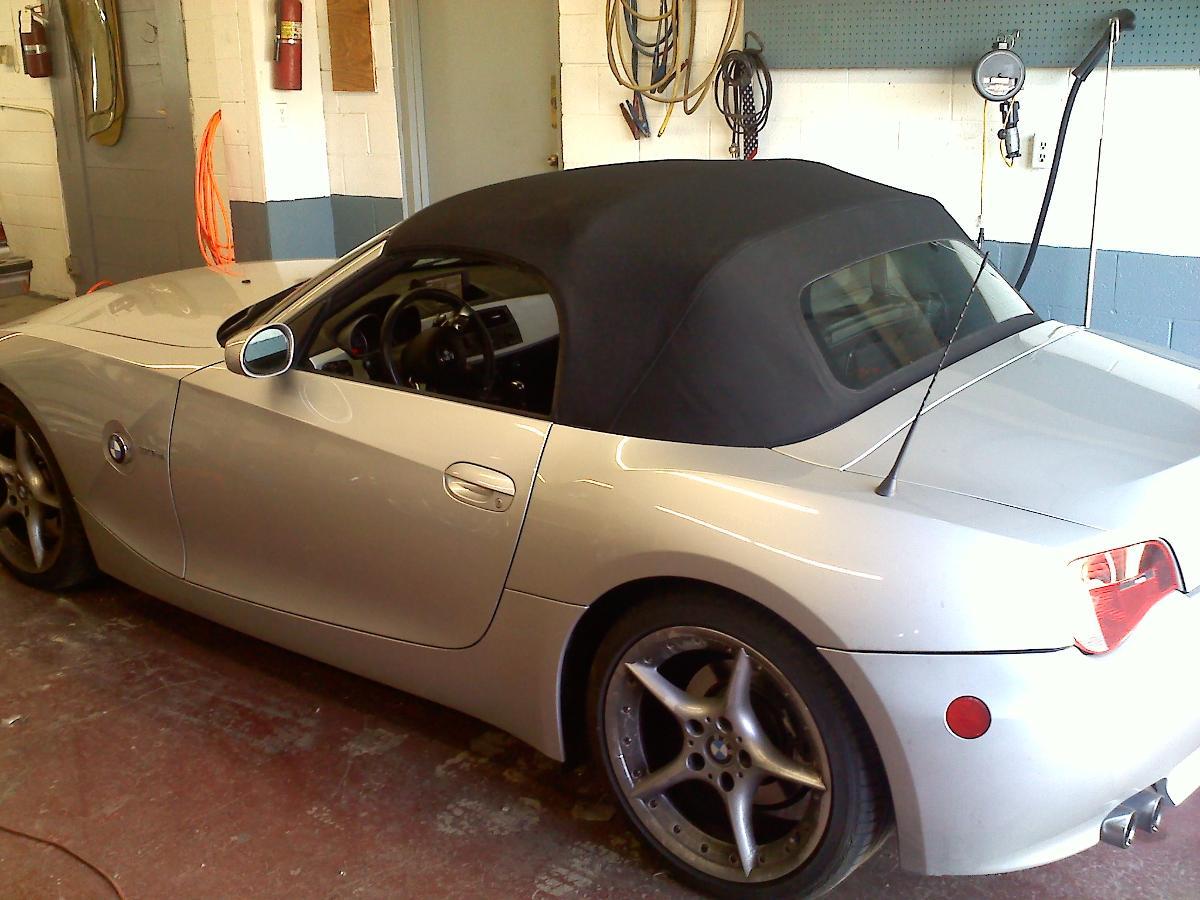 BMW Z4 after convertible top repair in Santa Fe, NM