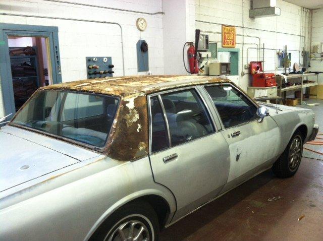Classic Buick convertible before convertible top repair in Santa Fe, NM