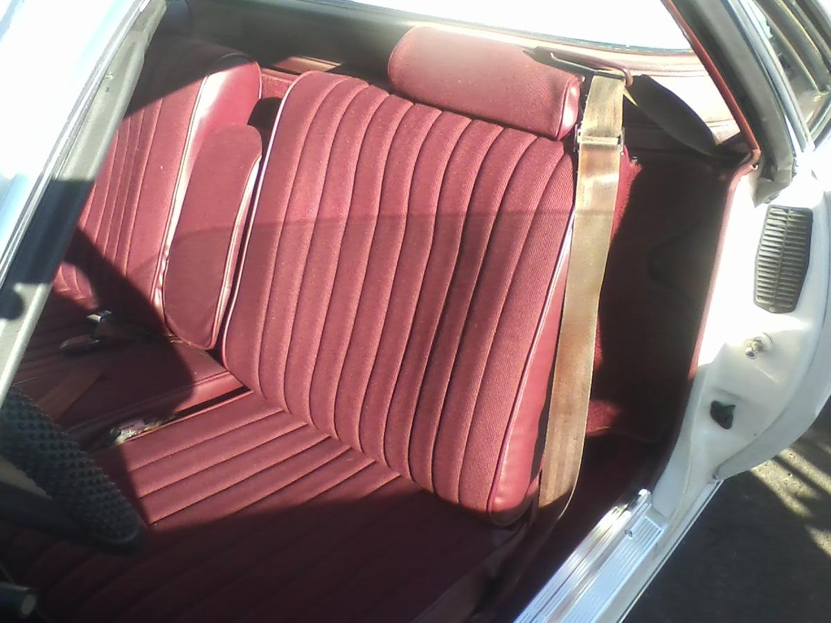 Old car seat after being upholstered