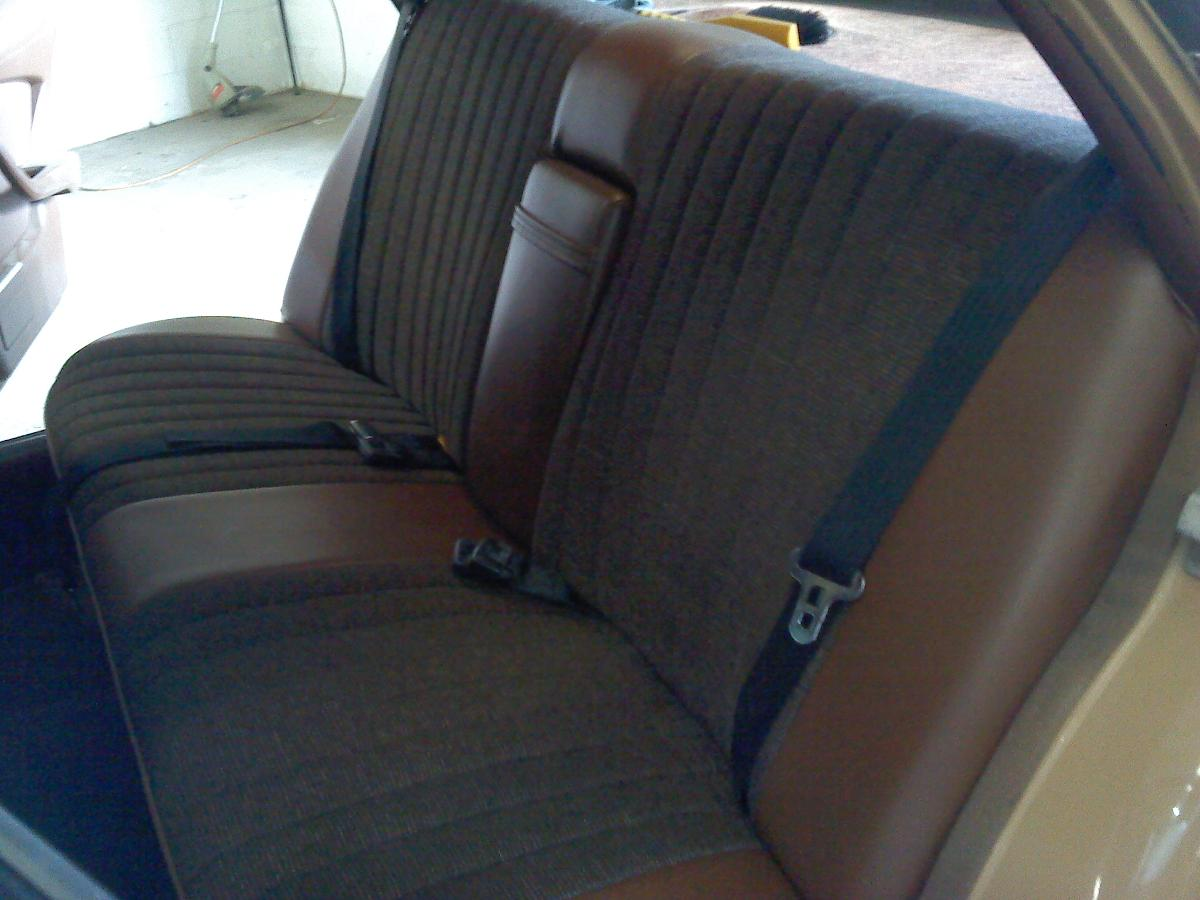 Leather car interior recently reupholstered