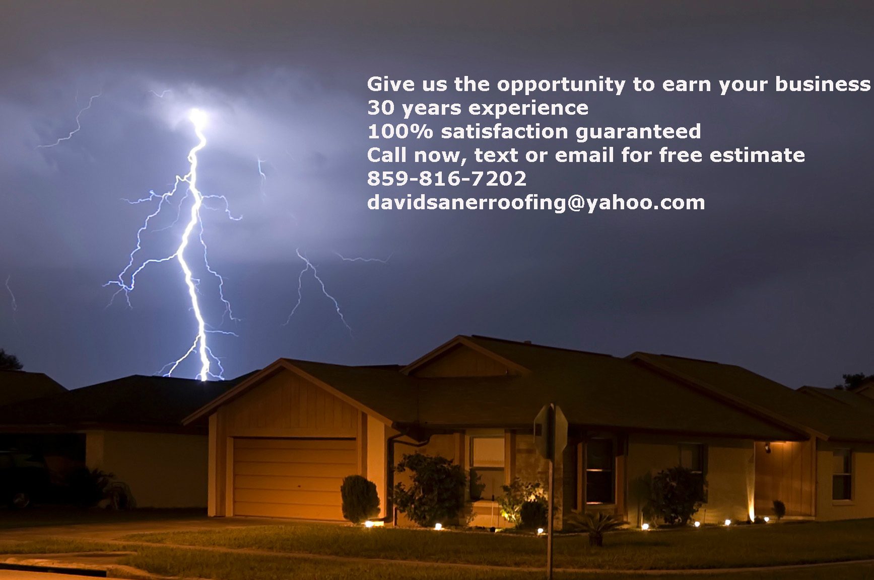 Roofing Contractors in Florence, KY with 30 years of experience.
