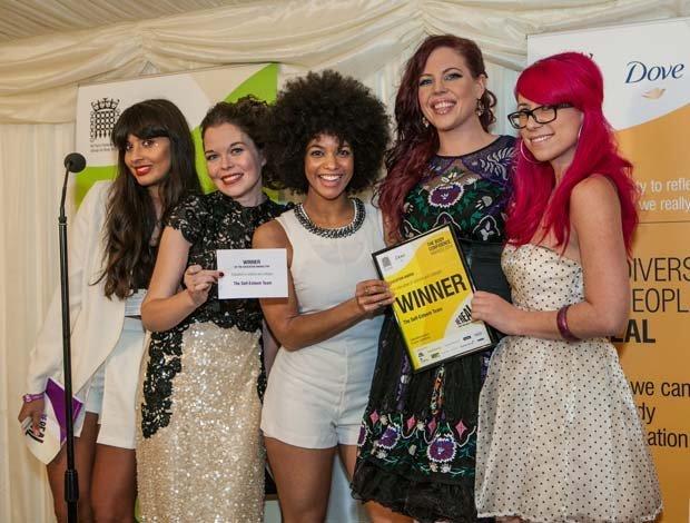 photo of Natasha Devon and the team