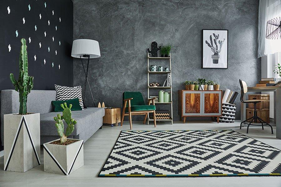 Cactus in una stanza di alto design