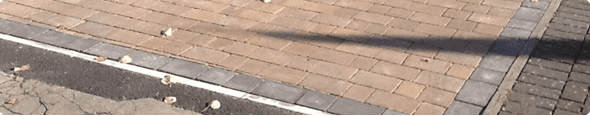 A blocked paving drive by our experts