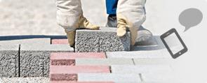 Bricks being laid