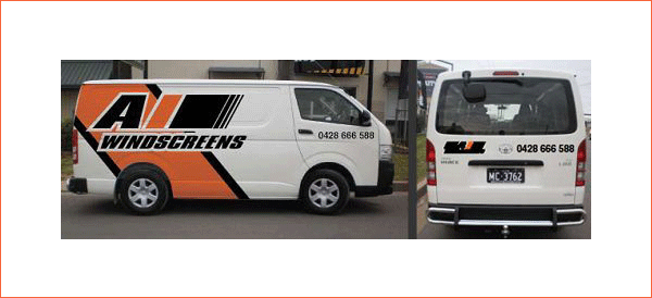 a one windscreens windscreens services van