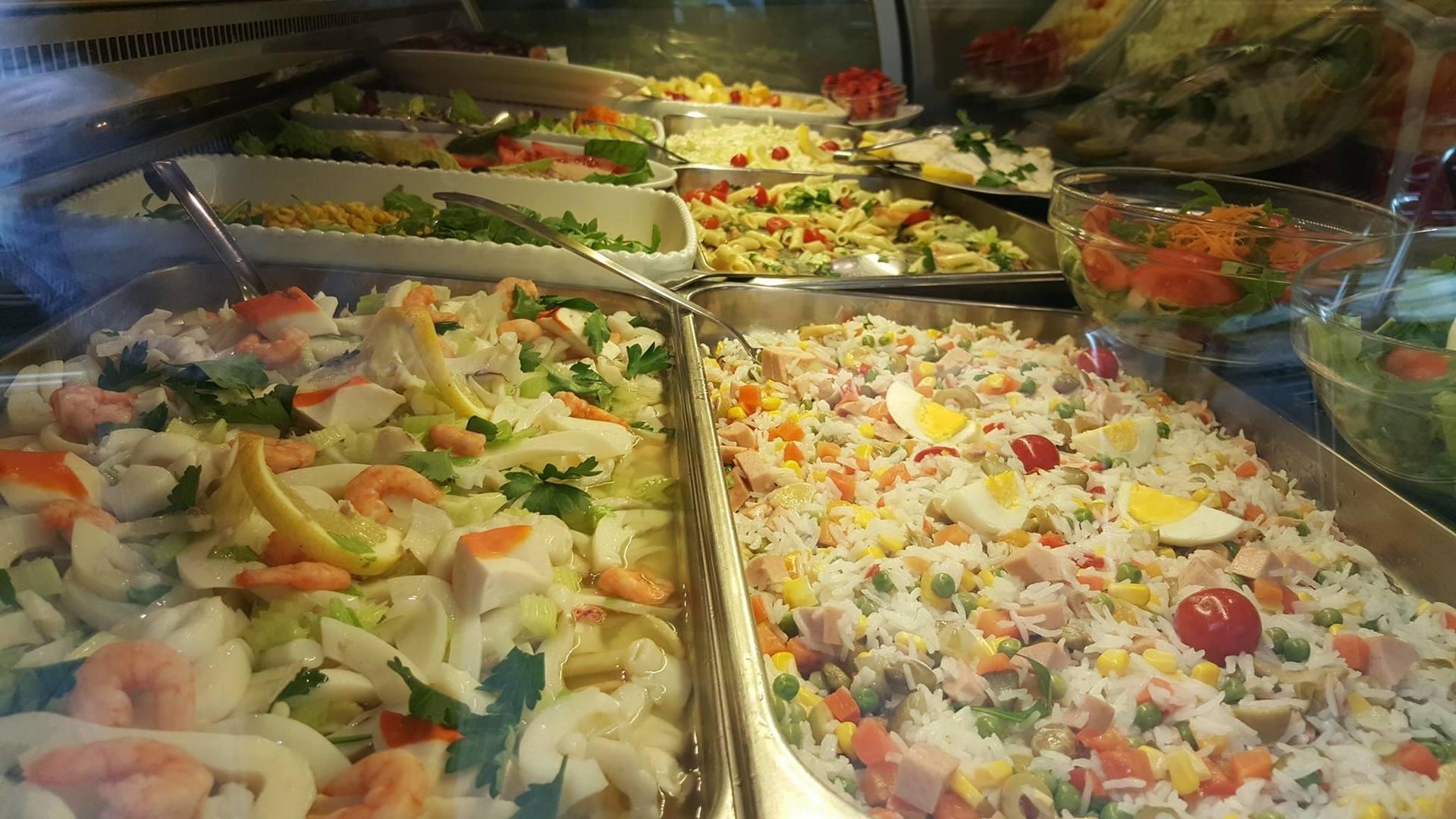 insalata di riso e contorni vari