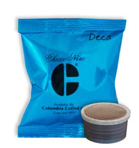 Coffee pod with blue packaging