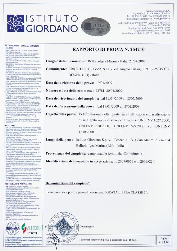 una certificazione da Istituto Giordano