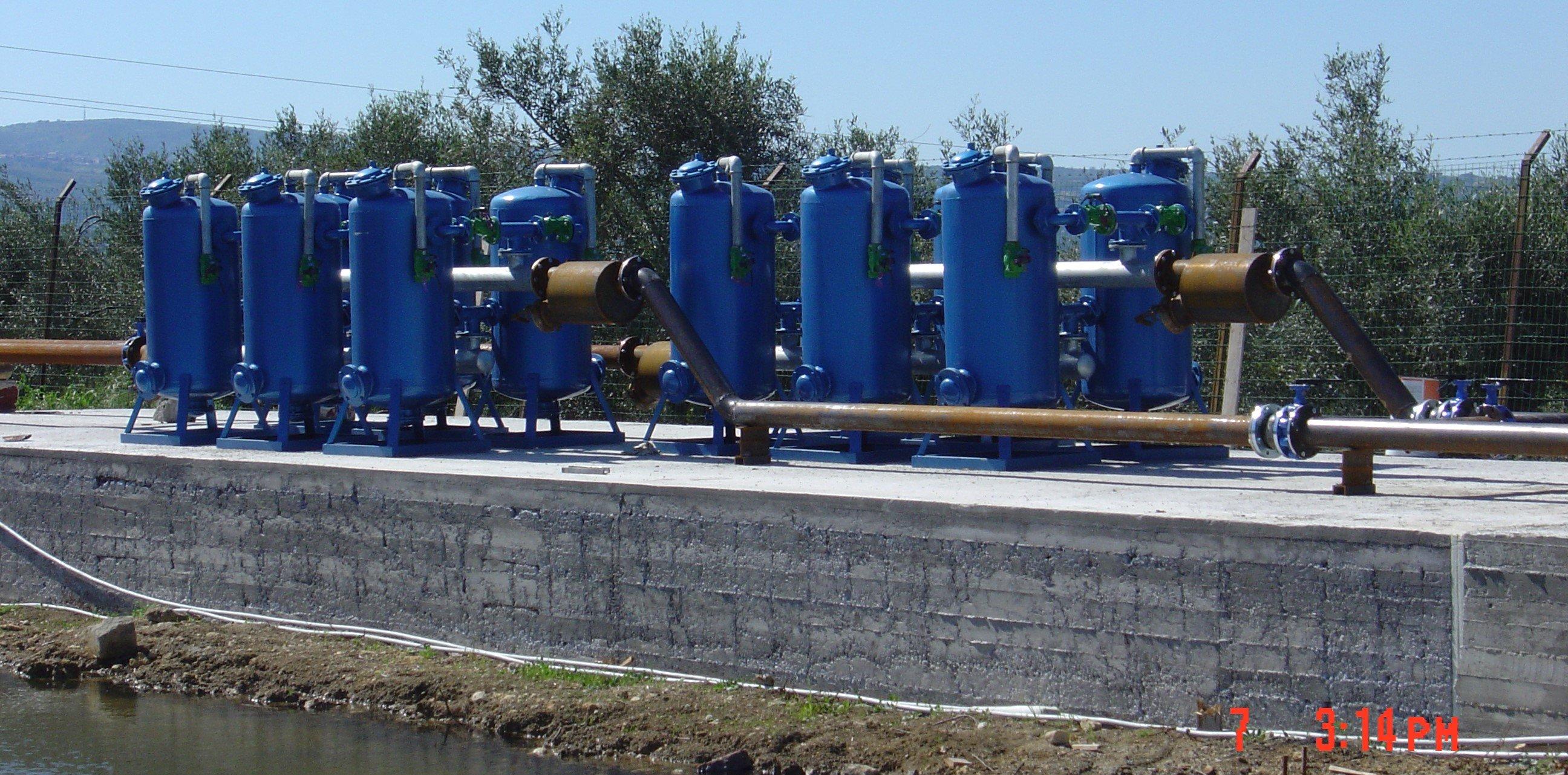 Impianti d'irrigazione a larga scala