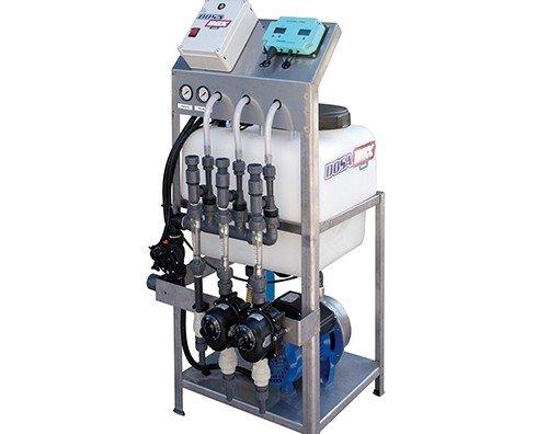 Macchinario per irrigazione automatizzata blu