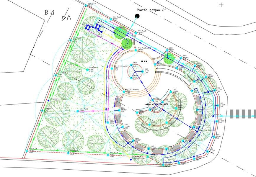 Progetto di un impianto d'irrigazione a larga scala
