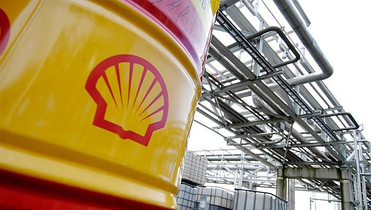 Un barile a marchio Shell