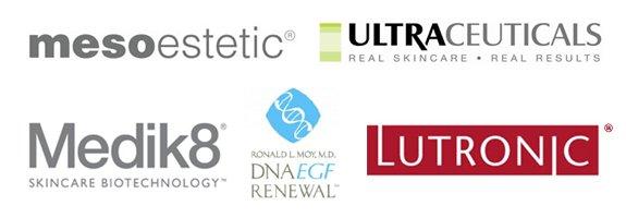 mesoestetic,ultraceuticals, medik8, dnaegf renewal, lutronic