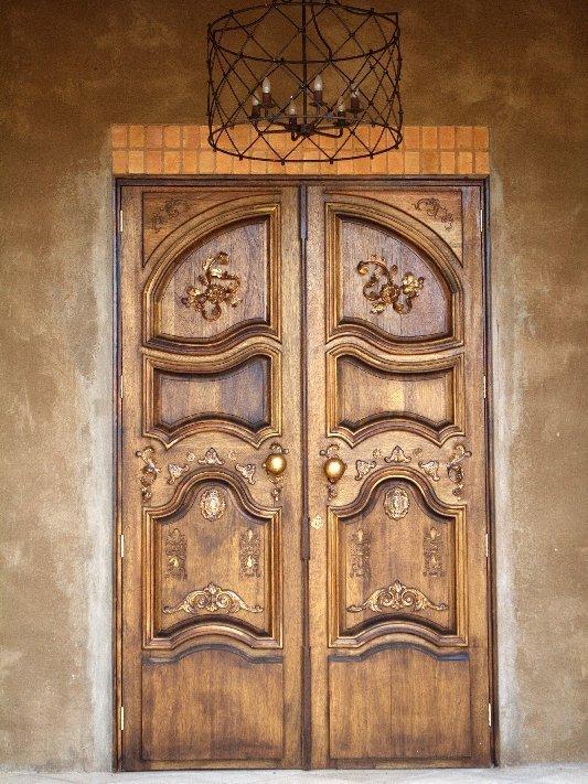 Custom made wooden door