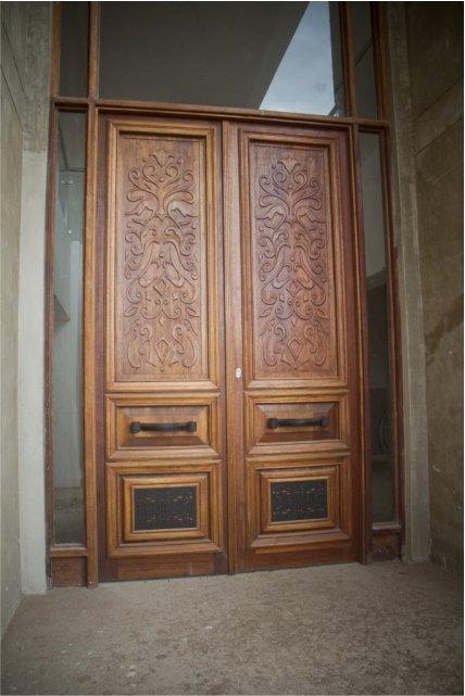 Custom wooden door