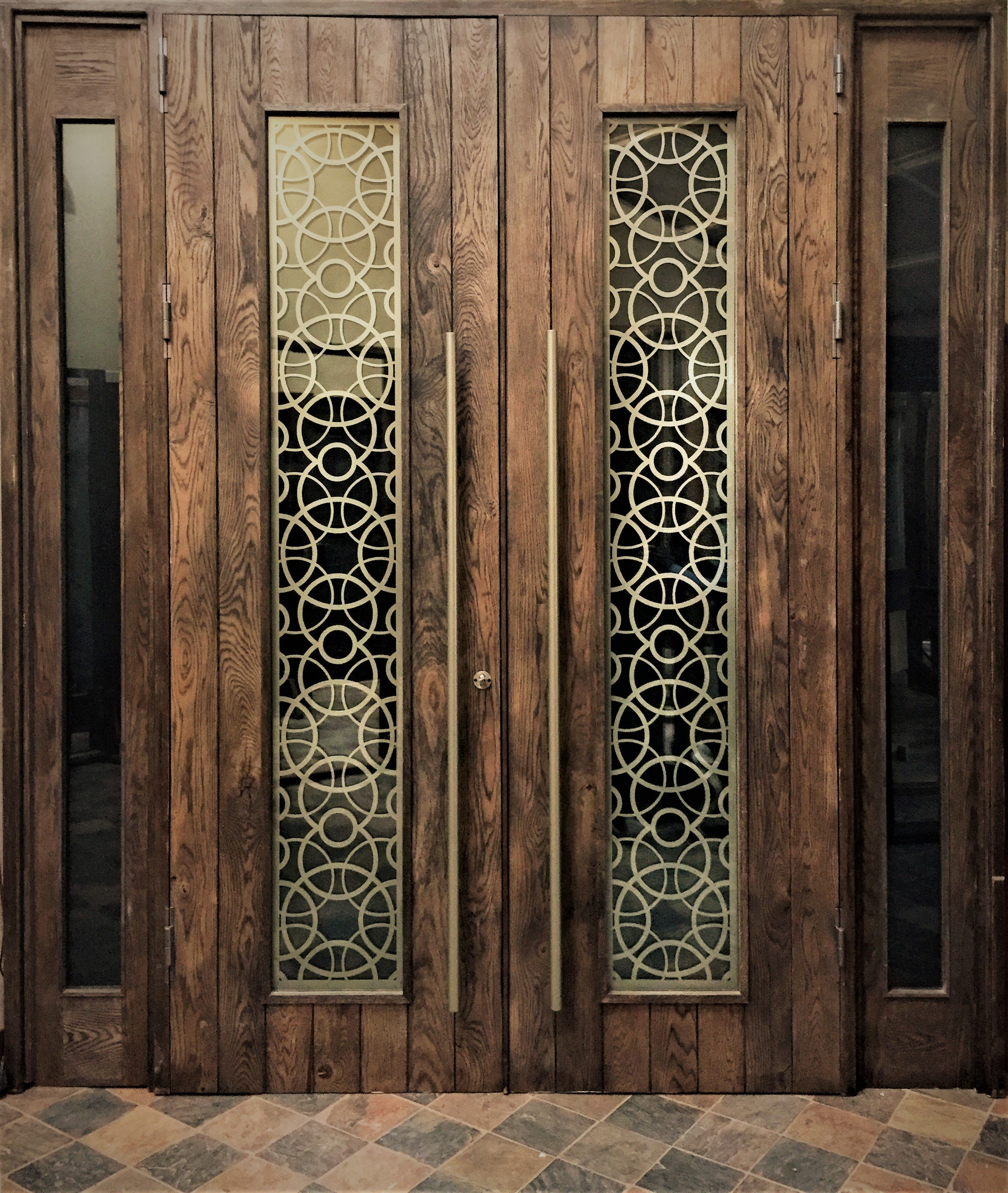 Custom made entrance door