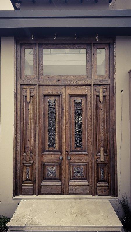 Custom made wooded door