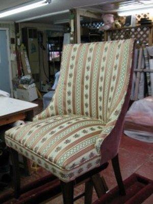 Furniture refinishing work