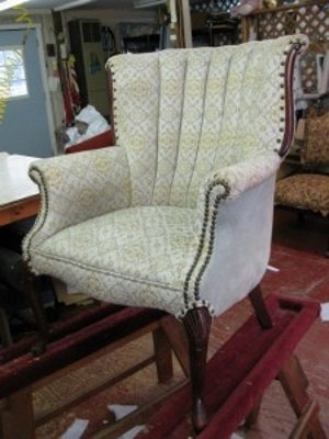 Furniture refinishing and repair work