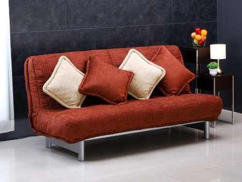 A luxury comfortable sofa bed and cute cushions