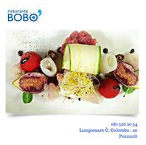 pubblicita del Ristorante BOBO con piatto creativo di pesce