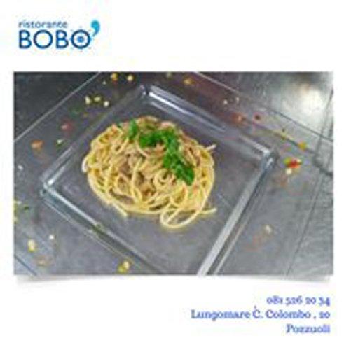 pubblicita del Ristorante BOBO con piatto di spagetti
