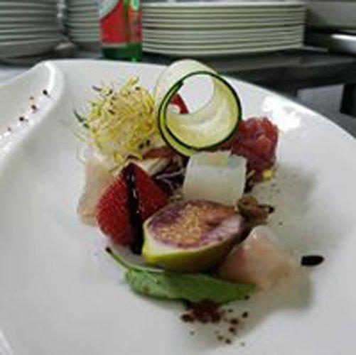 piatto creativo di pesce