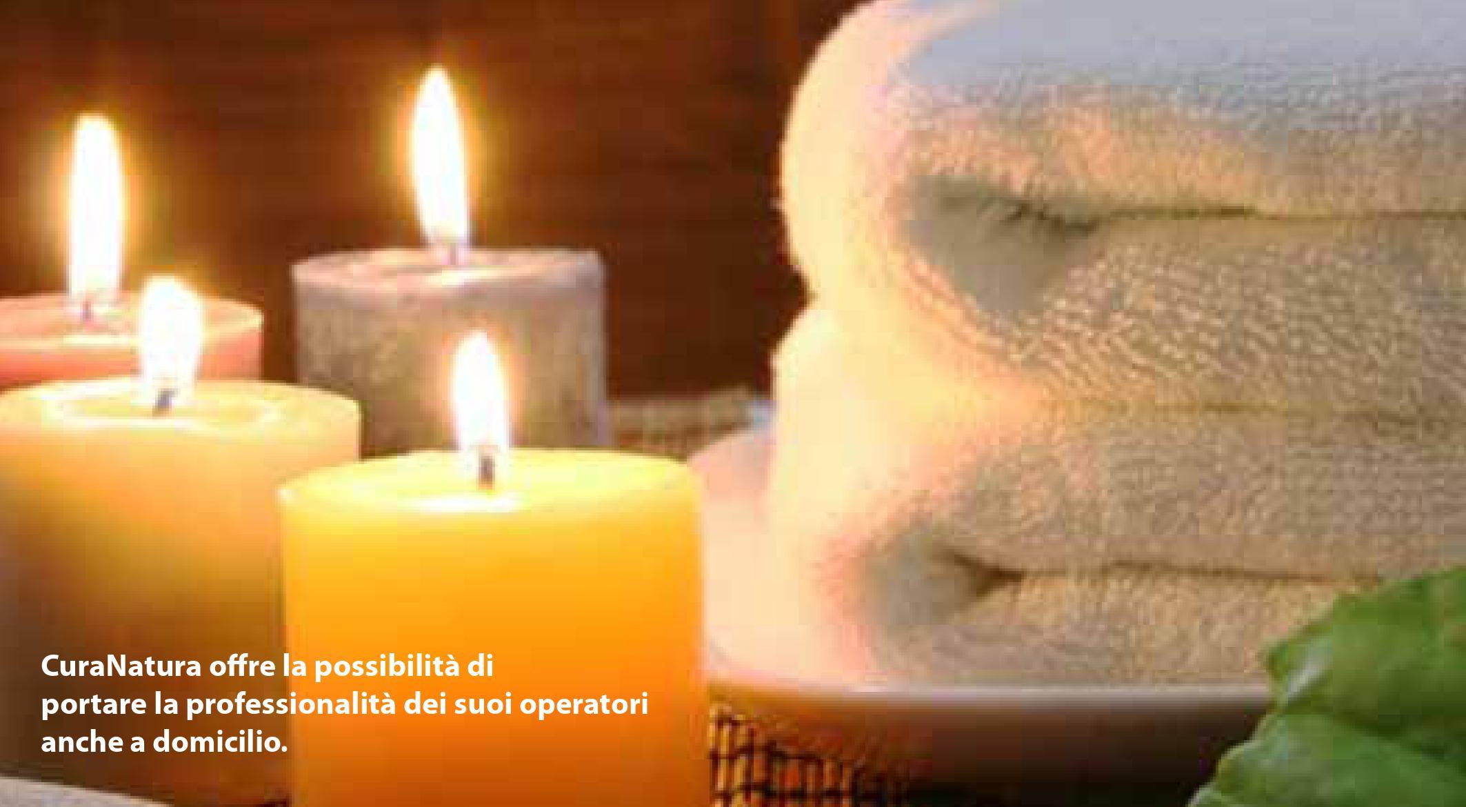 candele e asciugamani a salone