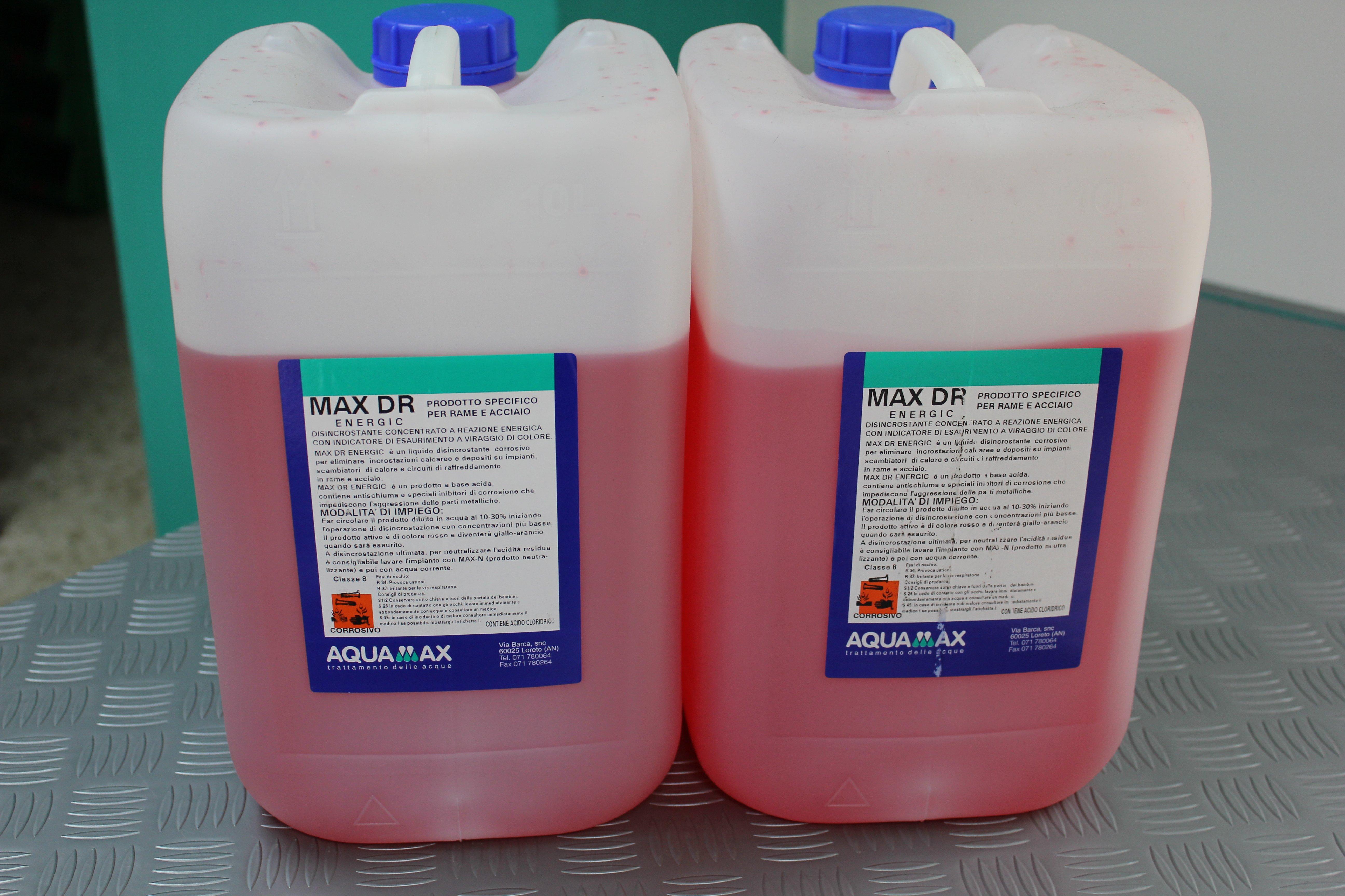 acido pulizia caldaie Max DR