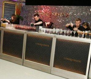 Shimmer sign for Courvoisier bar