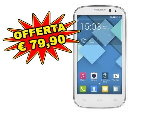 Alcatel Pop C5 bianco in offerta speciale