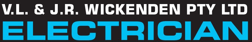 v l and j r wickenden pty ltd electrician logo