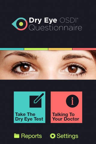 Take The Dry Eye Test – Free App available on Itunes