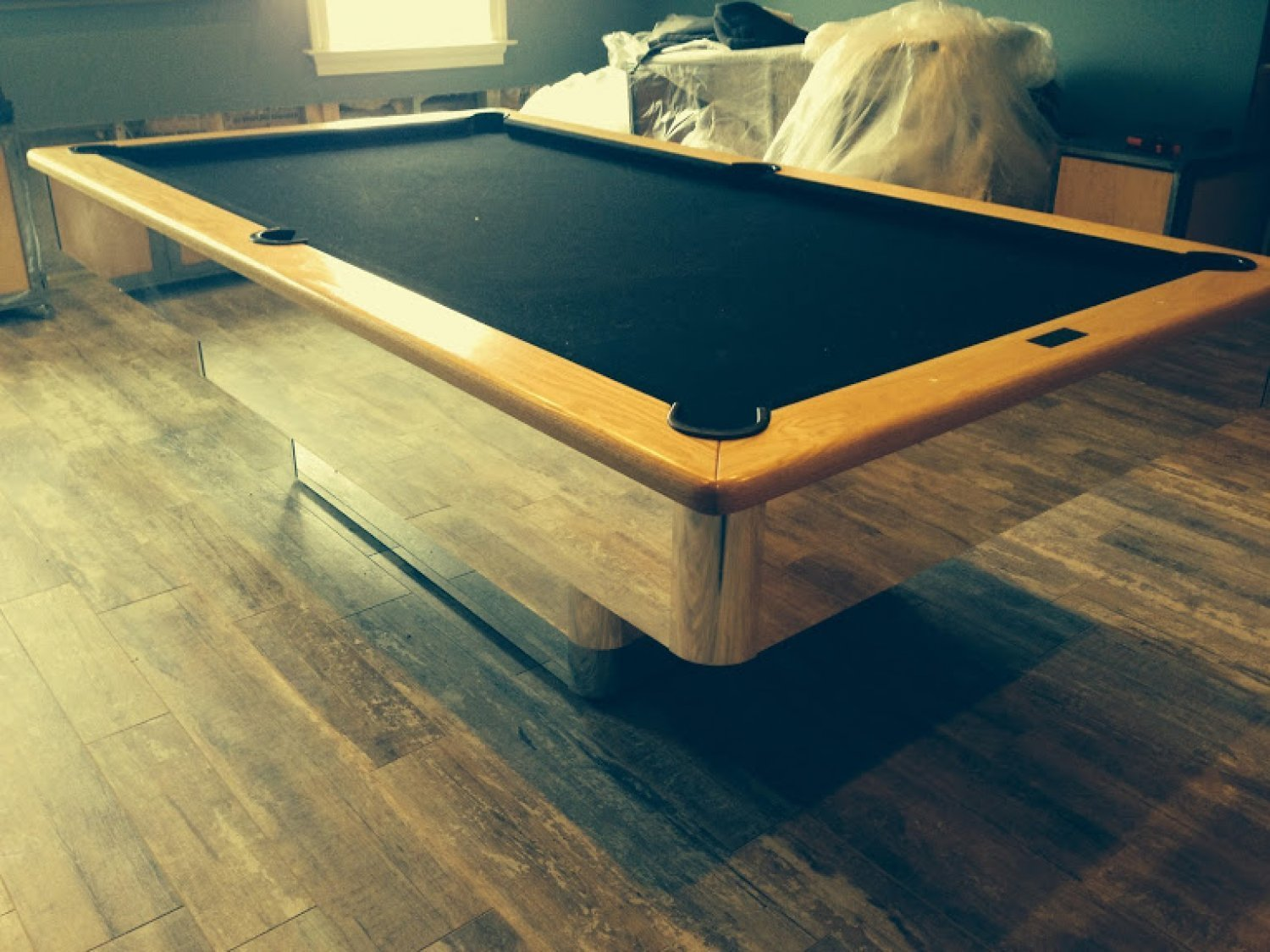 pool table disassembly and reassembly experienced