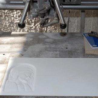 marmo opere su un  piastrella