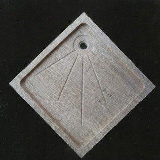lavabo in marmo a forma triangolo