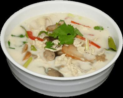Mushroom soup dish
