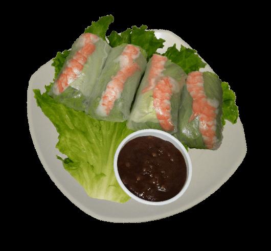Shrimp sushi dish