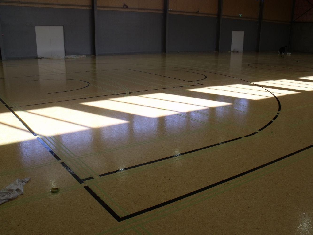 Basketball line marking