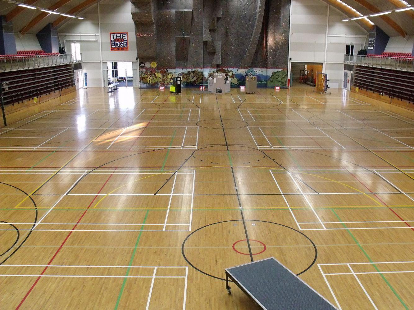 Large hall with line marking