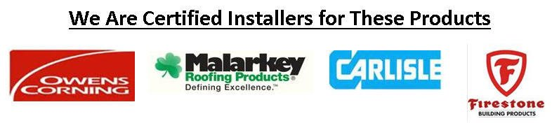 Certified installer for Owens Corning, Malarkey Roofing Products, Carlisle, and Firestone Building Products in Alaska