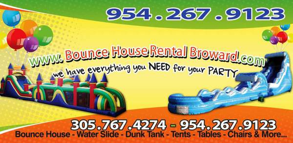 Bounce House Water Slides And Party Rentals Boca Raton