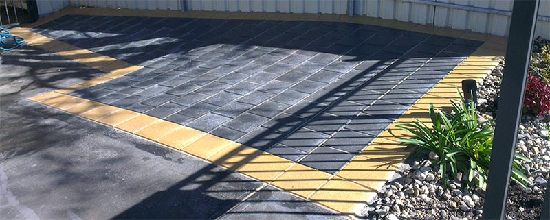 antony cement paving yellow