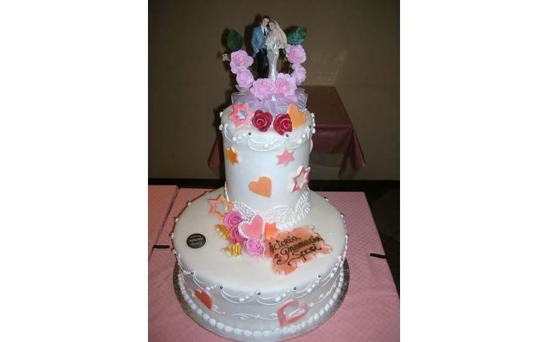 torta matrimoniale con cuori
