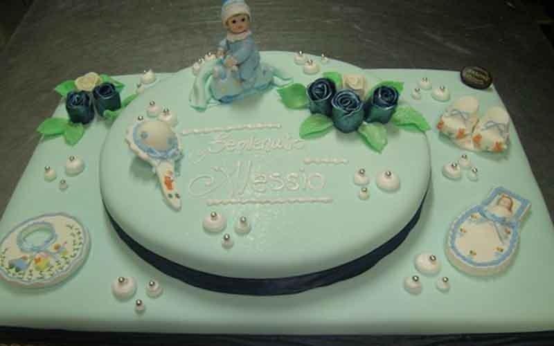 realizzazione torte per battesimi