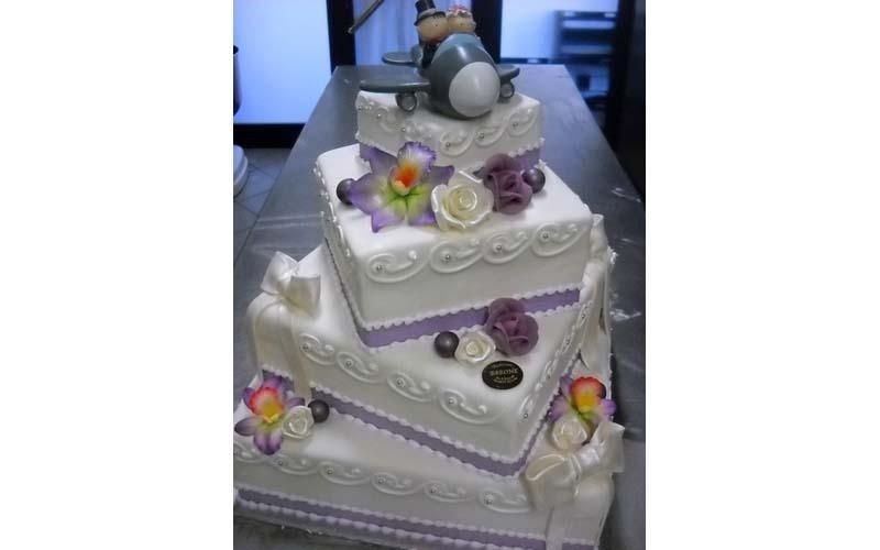 torta matrimonio quadrata